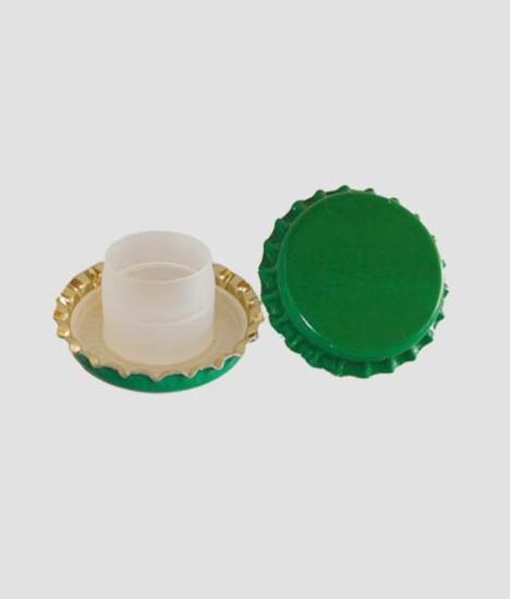 Bottle Crown Caps 29mm diameter with Plastic Undercap Green