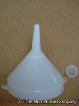 Plastic Funnel 15cm - With fine mesh strainer