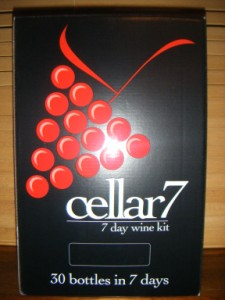 Cellar 7 day wine kits